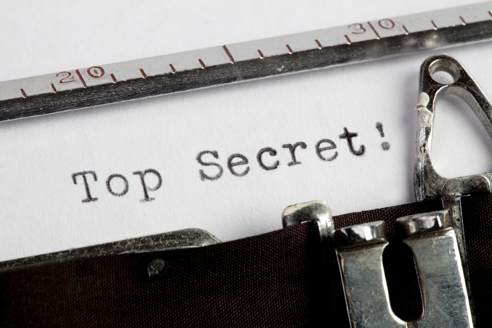 Top Secret on old typewriter